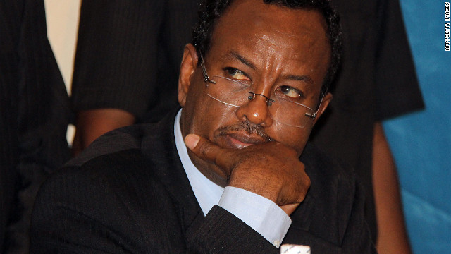 Somalia's newly appointed prime minister Abdi Farah Shirdon pictured on October 6, 2012.