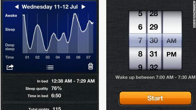 <a href='http://sleepcycle.com' target='_blank'>Sleep Cycle</a>: ($ 0.99, sleepcycle.com) This alarm keeps track of users' sleeping patterns and then creates a 30-minute window around a pre-set alarm. Within that window, the app can then wake you from the lightest phase of sleep, which is the natural waking point. Even better -- based on user reviews, it works. (iPhone, iPod Touch, iPod)
