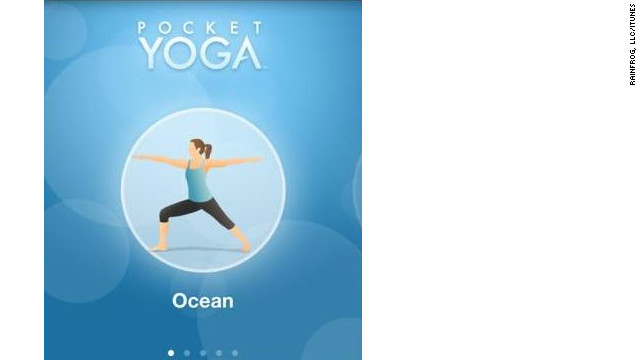<a href='http://pocket-sports.com' target='_blank'>Pocket Yoga</a>: ($2.99, pocket-sports.com) A mobile guide to yoga, Pocket Yoga is customizable according to three different practices, difficulties and durations, all created by Gaia Flow Yoga. Pose instructions come complete with voiceover, and users can swap out the default music for their own libraries. (iPhone, iPod Touch, iPad)