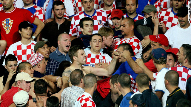 "The Croatian FA were ordered to pay a $16,000 fine after their fans were found guilty of ""displaying a racist banner and showing racist conduct during the Euro 2008 quarter-final tie against Turkey.<br/><br/>"