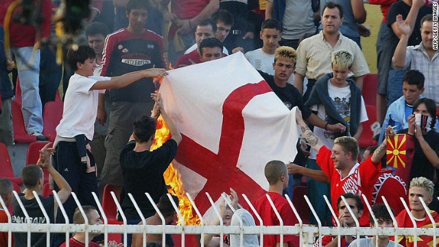 The Macedonia FA were fined $26,000 after fans racially abused England trio Ashley Cole, Sol Campbell and Emile Heskey during a qualifying game for Euro 2004.&lt;br/&gt;&lt;br/&gt;&lt;br/&gt;&lt;br/&gt;