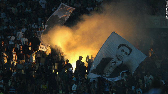 In September 2011, Bulgaria were fined $55,000 after a small number of fans directed monkey chants at England's Ashley Young, Cole and Theo Walcott during a Euro 2012 qualifier in Sofia.