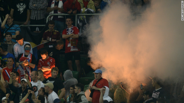 Russia was hit with a $38,000 punishment after supporters made monkey noises towards Czech Republic defender Theodor Gebre Selassie during Euro 2012