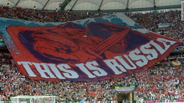 "Russia were again in the news for the wrong reasons at Euro 2012 and were fined $39,00 for ""the setting off and throwing of fireworks by Russia spectators, displaying of illicit banners and the invasion of the pitch by a supporter,"" during the Euro 2012 tie against Poland. Russia was also fined $155,000 after clashes between supporters and police during and after their game against the Czech Republic.<br/><br/>"