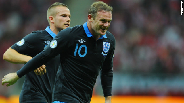 England's Wayne Rooney scored his third goal in two games to give England a first-half lead after heading home Steven Gerrard's corner from close-range in Wednesday's hastily rearranged fixture.