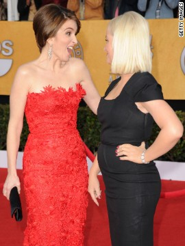 The women greeted each other on the red carpet at the 2011 Screen Actors Guild Awards.