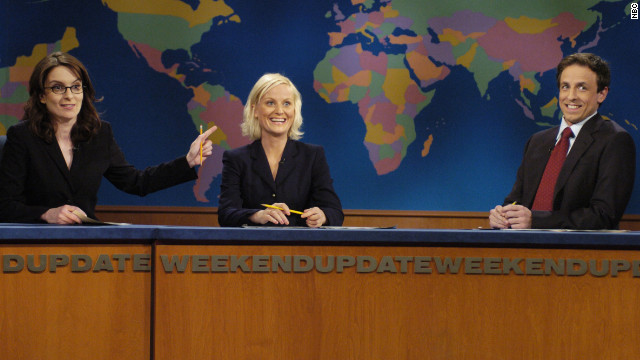 "Fey and Poehler co-anchored ""Saturday Night Live's"" ""Weekend Update"" until 2006 when Fey left to focus on her NBC sitcom, ""30 Rock."" Fey and Poehler were reunited, along with Poehler's new ""Weekend Update"" co-host Seth Meyers, when Fey hosted the show in February 2008."