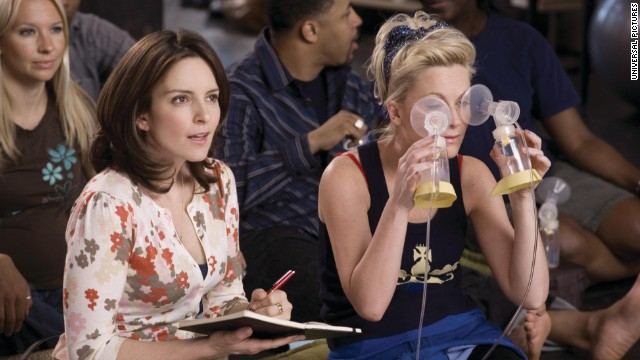 Fey and Poehler co-starred in 2008's &quot;Baby Mama&quot; as Kate and Angie, respectively. When Kate discovers that she's unable to get pregnant, she hires Angie to be her surrogate. Hilarity ensues.