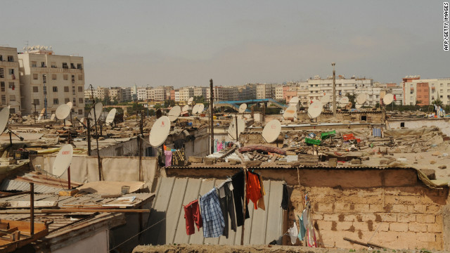 According a World Bank report, nearly half of all Moroccans between the age of 15 and 25 are unemployed and sprawling suburban slums, such as the Derb Lakhlifa area of Casablanca (pictured), contain high levels poverty.