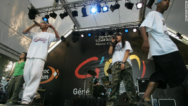 Rap's popularity has inspired a new generation of Moroccan hip-hop artists to emerge on the national music scene, such as the Devil Skulls, pictured here performing at the Mawazine music festival in Rabat in 2011.