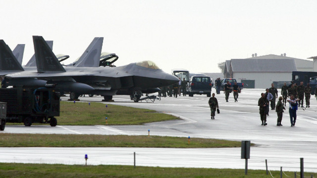 A file photo of the U.S. Air Base in Kadena, Okinawa, where the airman under investigation is assigned.