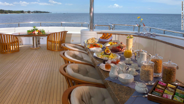 Haute cuisine on the high seas
