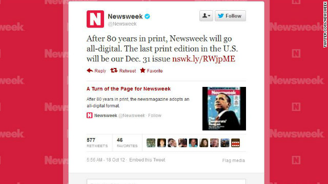 Newsweek ending print edition, job cuts expected