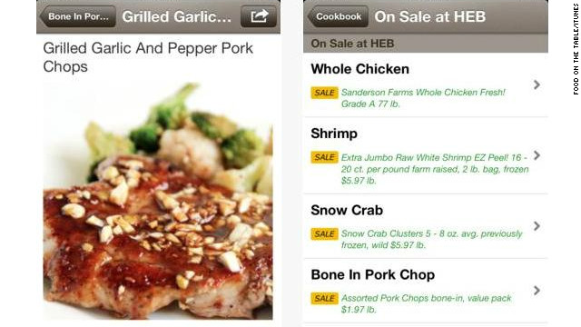 <a href='http://foodonthetable.com' target='_blank'>Food on the Table</a>: (free, foodonthetable.com) This recipe-builder and shopping aid is rich with features. Users can search recipes, pre-fill their grocery lists, browse store discounts and coupons and even search for meal ideas with what's already on hand in the fridge. (iPhone, iPod Touch, iPad, Android)