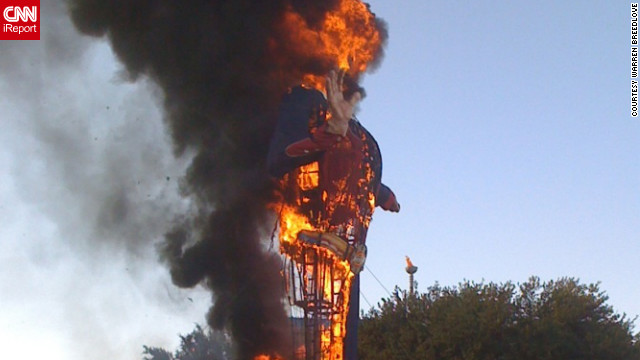 Iconic 'Big Tex' burns