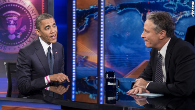 Obama talks housing... on The Daily Show
