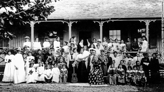 While there was no cure for the residents of Molokai, the sisters tried to bring dignity to their lives. Before the sisters arrived, patients dressed in rags. The sisters gave the girls proper clothes and taught them embroidery, sewing and gardening. They also gave them music lessons. 