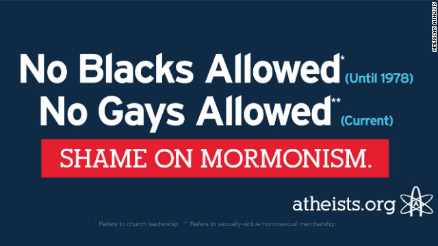 Atheist billboard attacks Romneys faith, but Mormons say it&#039;s misleading
