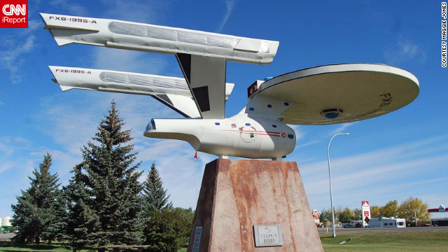 "Set course to Vulcan! Sharing its name with the home planet of Spock, Star Trek nerds are beaming down to Canada to get their dose of trekkie fun. Fans can even see a replica of the Starship Enterprise. iReporter Maggie Jones says she was impressed with her trip. ""The town really wants to give Star Trek fans a great experience,"" she told CNN. <!-- --> </br><a href='http://ireport.cnn.com/docs/DOC-840244' target='_blank'>See more fascinating photos of Vulcan on her iReport</a>."
