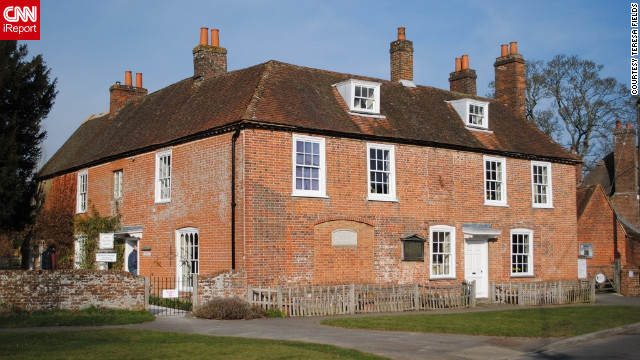 "Tucked away in Hampshire, literary nerds can explore the inspirational home where novelist Jane Austen spent the last eight years of her life. iReporter Teresa Fields says it was surreal to walk the same paths that Jane Austen once walked. ""It was a culmination of every fantasy you ever had when reading her books,"" she said.<!-- --> </br><a href='http://ireport.cnn.com/docs/DOC-840902' target='_blank'>See more photos from her lovely Jane Austen pilgrimage on her iReport</a>."