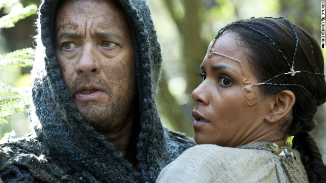"Tom Hanks starred as Valleysman Zachry and Halle Berry starred as Meronym in ""Cloud Atlas."" Many viewers, including Ebert, found this film to be confusing. But that didn't prevent Ebert from praising it. <a href='http://www.rogerebert.com/reviews/cloud-atlas-2012' target='_blank'>"" ... oh, what a film this is! And what a demonstration of the magical, dreamlike qualities of the cinema. And what an opportunity for the actors. And what a leap by the directors, who free themselves from the chains of narrative continuity.""</a>"