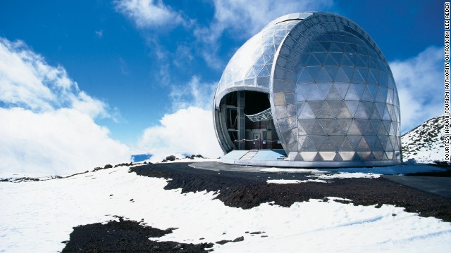 Mauna Kea is the world's tallest moutain -- taller even than Mt. Everest, if you measure from the mountain's base deep in the ocean -- which makes it ideal for observatories.