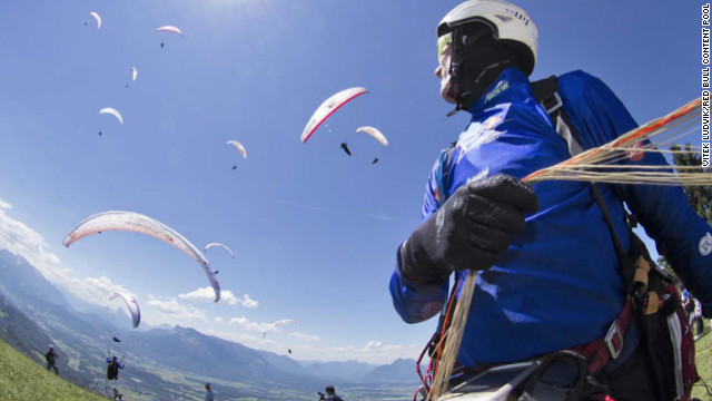 Paragliding experience and a heap of endurance are the requirements if you take part in the Red Bull X-Alps - a biennial event which requires competitors to traverse the length of the European Alps -- nearly 900km -- from Salzburg in Austria to the Principality of Monaco. The route goes from mountain top to mountain top but you must also trek with all your equipment.