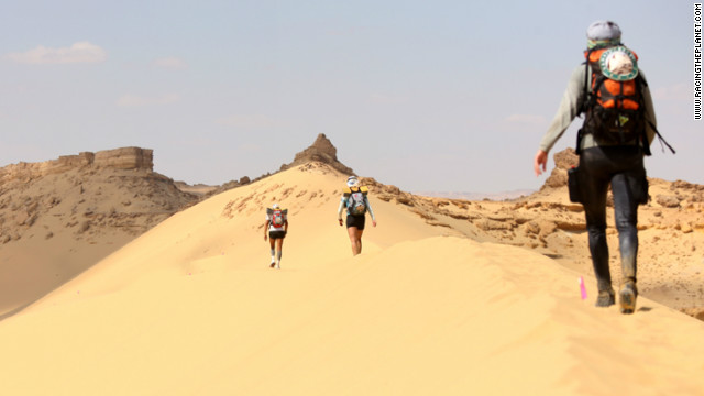 The Four Deserts ultramarathon race series challenges competitors to take part in races in the Gobi Desert, the Sahara, the Atacama and Antartica. Each race covers 250km over seven days in some of the world's most inhospitable climates. Athletes carry their own food and equipment with only limited assistance.