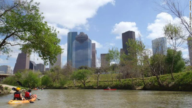 Buffalo Bayou's history as a Houston park dates back to 1910. Today it is known as &quot;Houston's Central Park&quot; and is enjoyed by visitors as much from the water as it is from the land.