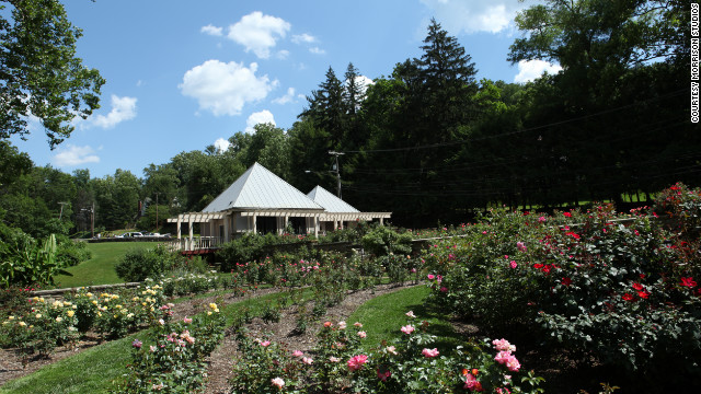 Ritter Park's nationally renowned rose garden was designed in 1934 and includes more than 3,500 plants.