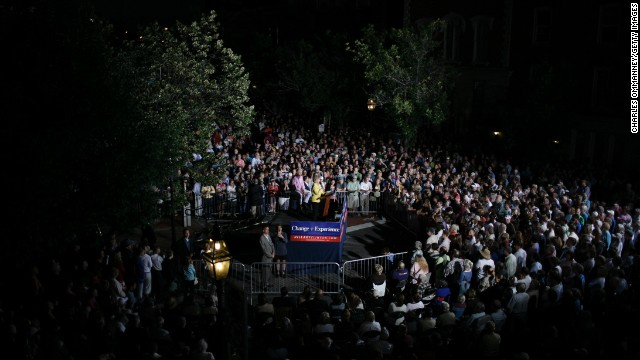 Clinton speaks at a fall kickoff campaign rally on September 2, 2007, in Portsmouth, New Hampshire.