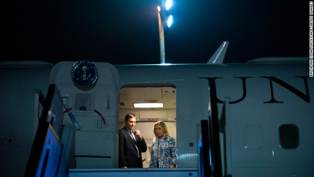 Clinton arrives at Ben Gurion International Airport in Israel on July 15, 2012.