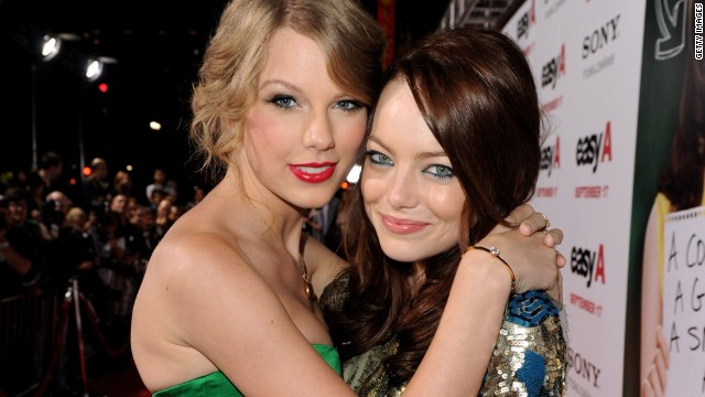 """I'm the kind of girl who needs to tell her friends everything. I've developed this really close-knit group of girls. ... I met Emma (Stone) (pictured) when I was 17, and I met Selena (Gomez) when I was 18. ... Somehow through all of it, we've stayed close. "" -- Glamour, 2012"
