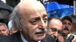 Lebanon\'s Druze chief Walid Jumblatt.