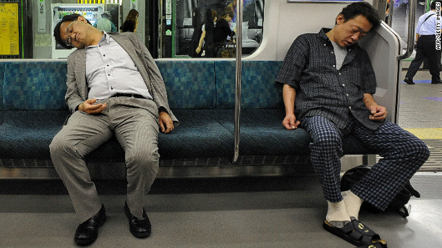 "Life in Tokyo can be tiring with some commuters falling asleep on their way home. It's a familiar site says Sandra Barron, an American writer based in Tokyo. ""There is a tolerance that if the person next to you falls asleep and their head kind of lands on your shoulder, people just put up with it. That happens a lot. People don't like it, they don't cuddle with them or anything but it's kind of accepted that that happens.""<br/><br/>"