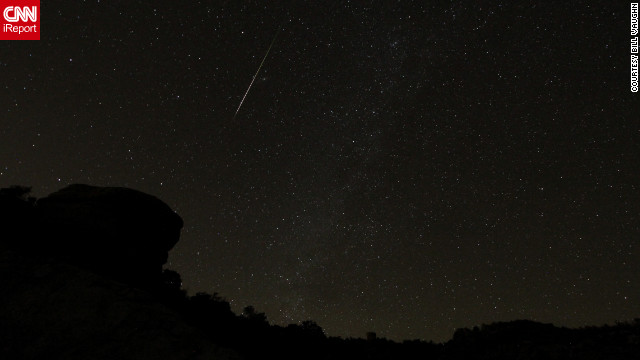 Bill Vaughn says he always enjoys watching a meteor shower with his wife, especially because they never know what to expect. He photographed the Orionids from Mount Lemmon, Arizona.