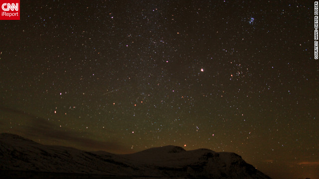 <a href='http://ireport.cnn.com/docs/DOC-861981'>Hans-Dieter Fleger</a> photographed the Orionid meteor shower from the foot of Mount Gaustatoppen in Stavsro, Norway, early Sunday morning.
