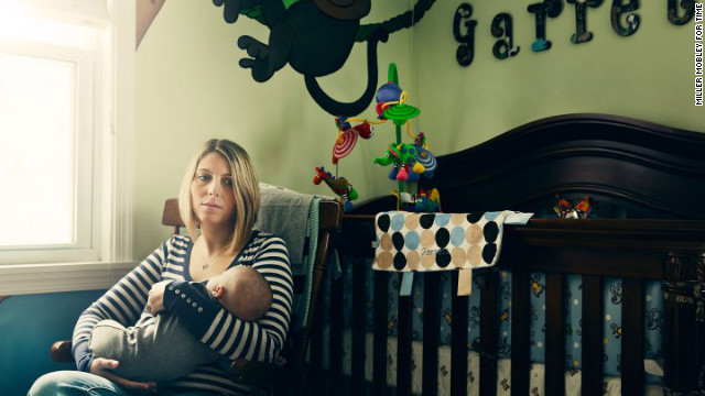 Emma Warin and her baby are healthy, but they are participating in a study that is analyzing the family's entire genetic code.