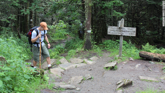 With a compass in hand, set off for the Appalachian Trail in the Great Smoky Mountains National Park in early spring as the cold is just ending.