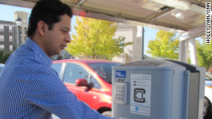 Aashish Mehta lives in an apartment and would have no way to fuel up without Atlantic Station\'s public car chargers.