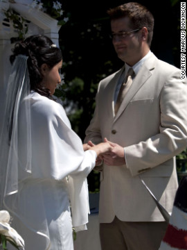 Dickinson married his wife, Farah Iqbal, in 2009. &quot;(At the time) I thought I didn't look too bad,&quot; he says. &quot;I have a hot wife so I must be doing OK.&quot; 