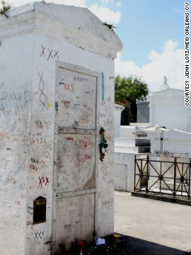"In New Orleans, ""Voodoo Queen"" Marie Laveau's tomb in St. Louis Cemetery No. 1. is a popular tourist stop."