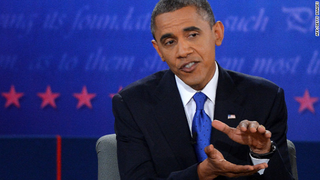 Obama answers a question Monday.