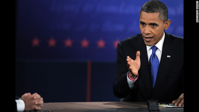 Obama makes a point on Monday. He criticized his opponent on a host of foreign policy issues -- claiming Romney had favored positions that would have hurt the United States.