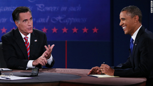 Obama reacts to statements by Romney on Monday.