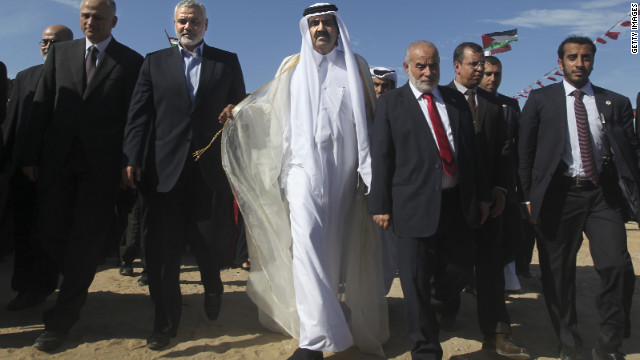 Emir of Qatar becomes first head of state to visit Gaza since blockade