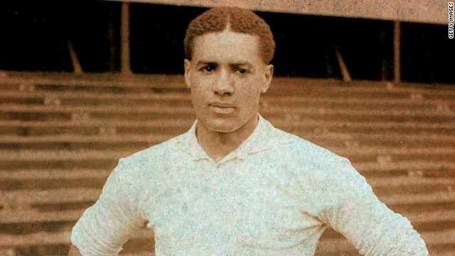 Walter Tull became the first black outfield player to play in the English top flight when he signed for Tottenham Hotspur in 1909. Tull was the subject of racist abuse, with one particular match against Bristol City leading to Tottenham selling him to Northampton Town.