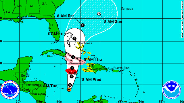 Hurricane coming, island residents warned; U.S. could be next