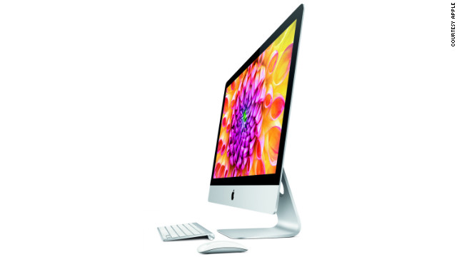 The iMac also received a makeover which trims the desktop's monitor down to a sleek 5mm at its edge. 