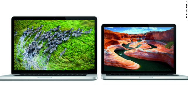 "The 13-inch Macbook Pro has been updated with a ""retina display"" like the 15-inch version. The new version is three-quarters of an inch thick, weighs 3.5 pounds and will start at $1,699."